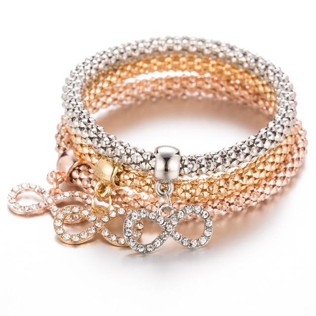 FAMSHIN-3-Pcs-Set-Unisex-Bracelets-Fashion-Gold-Eight-words-Crystal-Bracelet-Bangle-Multilayer-Charm-Rose_0