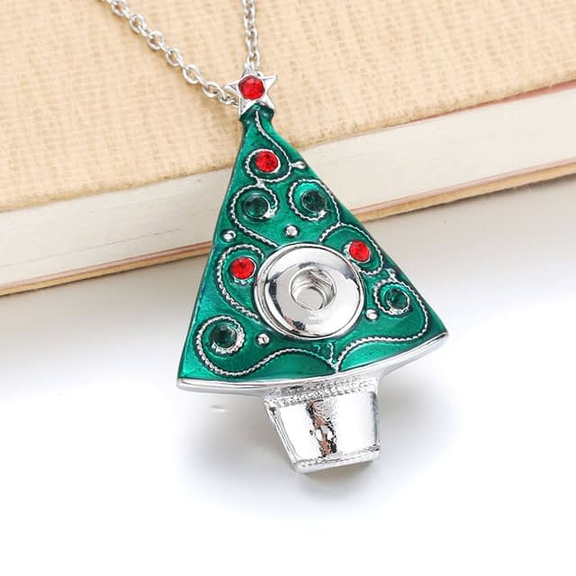 Boom-Life-Snap-Jewelry-Christmas-Tree-Metal-Crystal-Pendant-Necklaces-Fit-DIY-12MM-Snap-Buttons-Necklaces_2