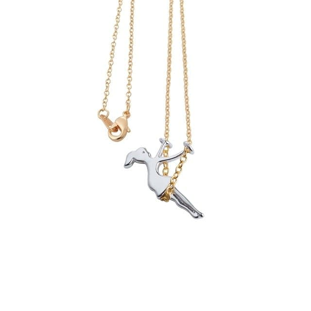 Swinging Girl Chain Necklace7