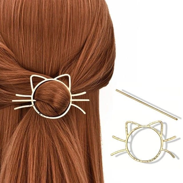cute-Meow-Cat-Pierced-Hair-Clip-Metallic-animal-hair-style-jewelry-Hairpin-Lady_1