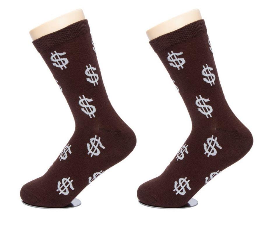 dollar sign crew socks men