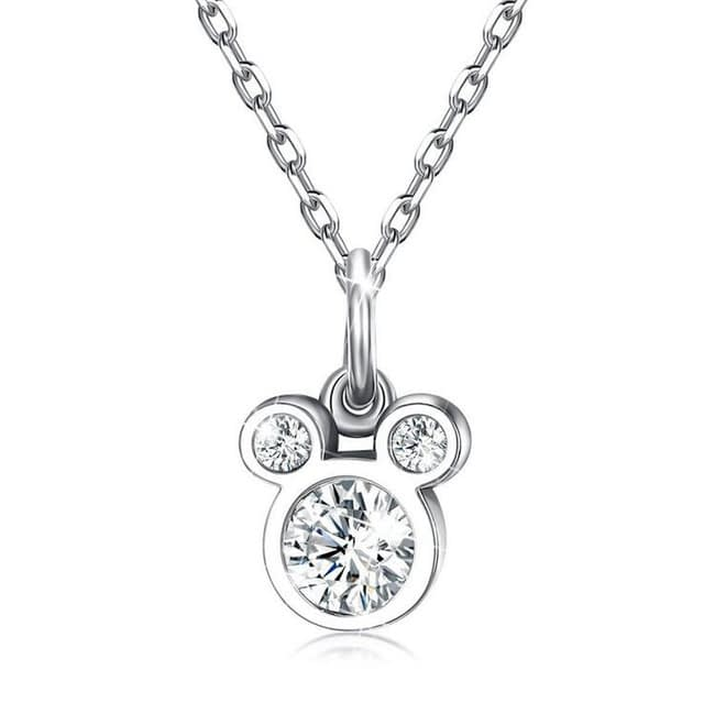 Baby-Fashion-925-Silver-White-Zircon-Cute-Small-Mouse-Pendant-Necklace-For-Children-Girl-Women-Simple_0