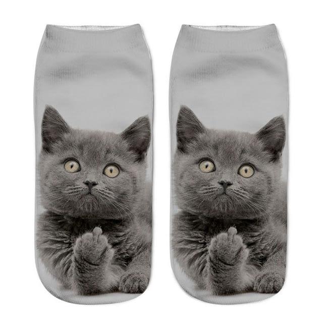 3D-Print-Women-Ankle-Socks-Harajuku-Kawaii-Funny-Cat-1