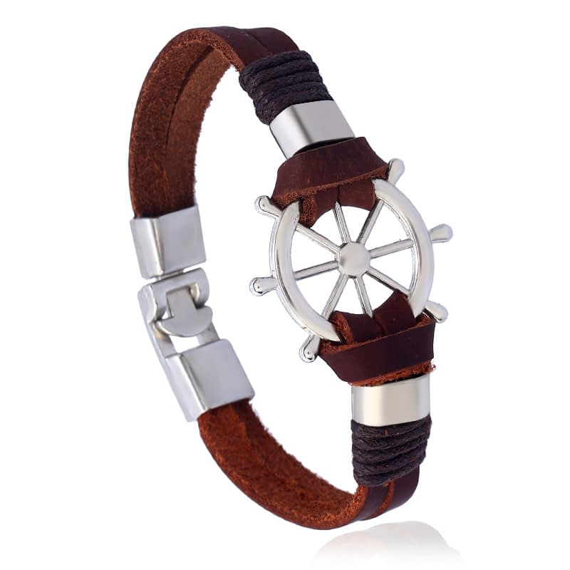 Rudder-Leather-Bracelet-brown