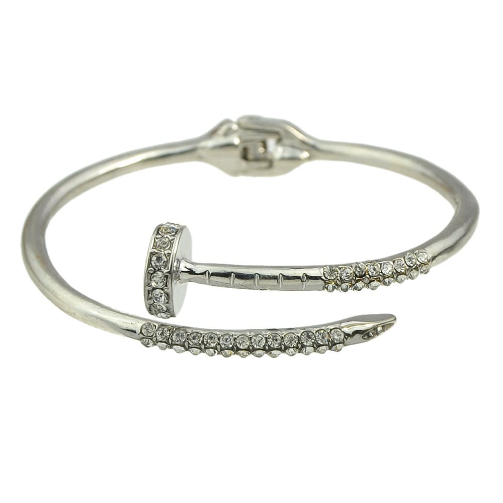 rhinestone-nail-bracelet-silver