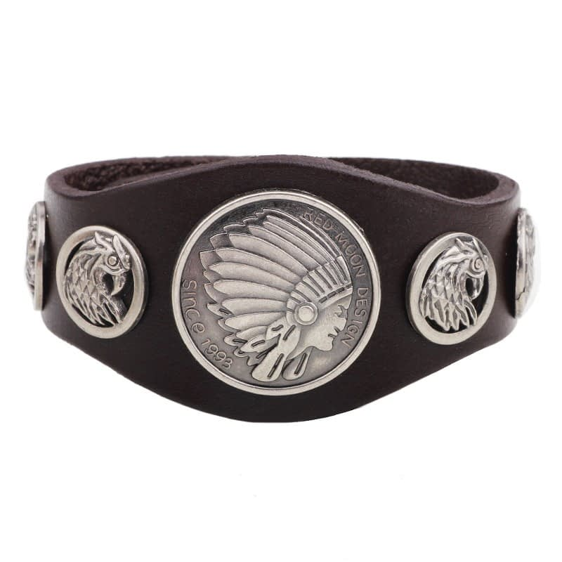 Chief-Hawk-Leather-Cuff-Bracelet-brown