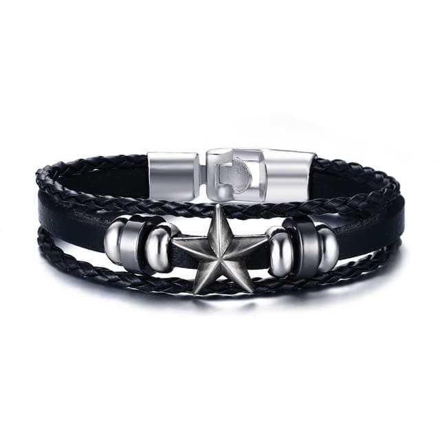 Mens-Bracelets-Alloy-Multi-strand-Leather-Bracelet-For-Men-Jewelry-Star-Braided-Rope-Bracelet-Bangle-Wristband_1