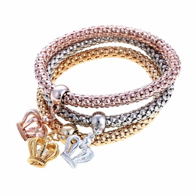 3Pcs-Set-Gold-Silver-Rose-Gold-Colors-Elastic-Bracelets-For-Women-Multilayer-Crown-Pendant-Bangles-Gifts_0