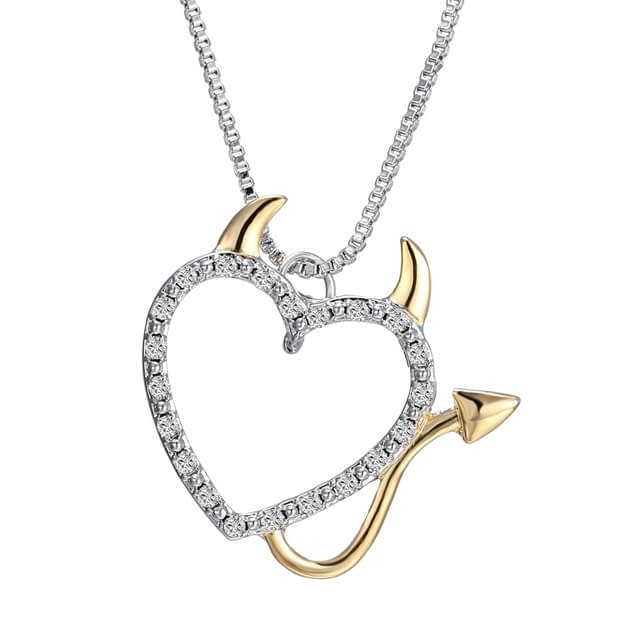 Gold-and-Silver-Plated-Love-Heart-Accent-Devil-Heart-Pendant-Necklaces-Jewelry-for-Women-Summer-Decoration_0