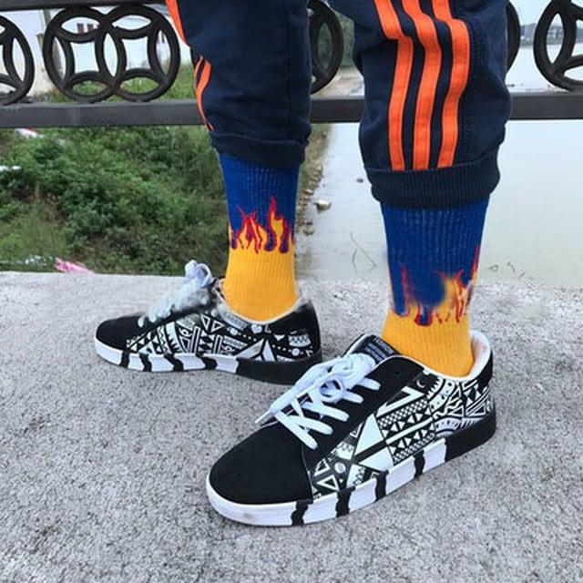 Men-s-Socks-Cotton-Flame-Print-Hip-Hop-Skateboard-Socksmen-and-Women-Funny-Unisex-Are-on_1