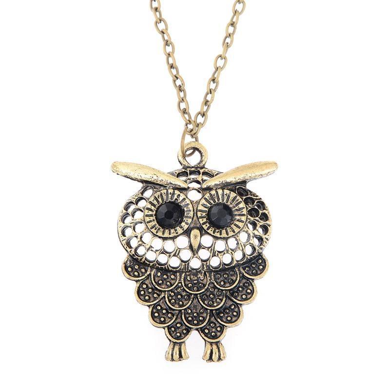 Vintage-Owl-Pendant-Necklace-bronze