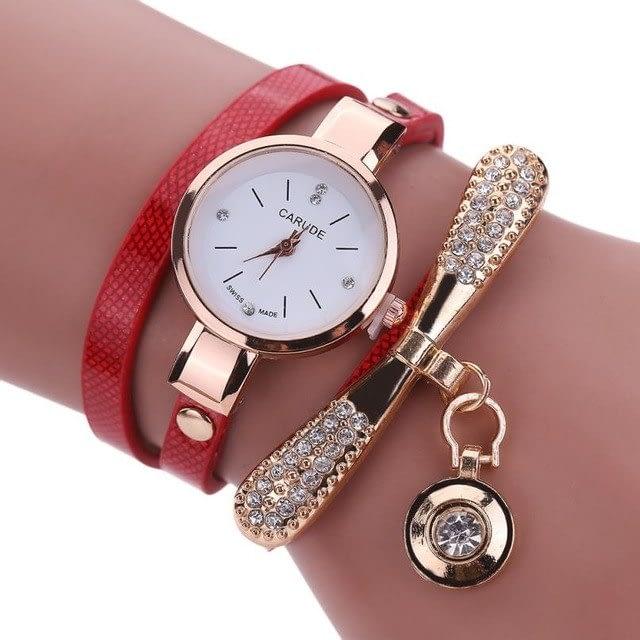 Rhinestone-Charm-Bracelet-Watch-red
