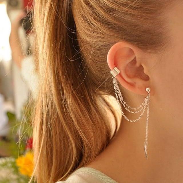 Personality-Leaf-Tassel-Clip-Earrings-for-Women-Ear-Cuff-Bijoux-Gold-Silver-Color-Punk-Earrings-Pendientes_1