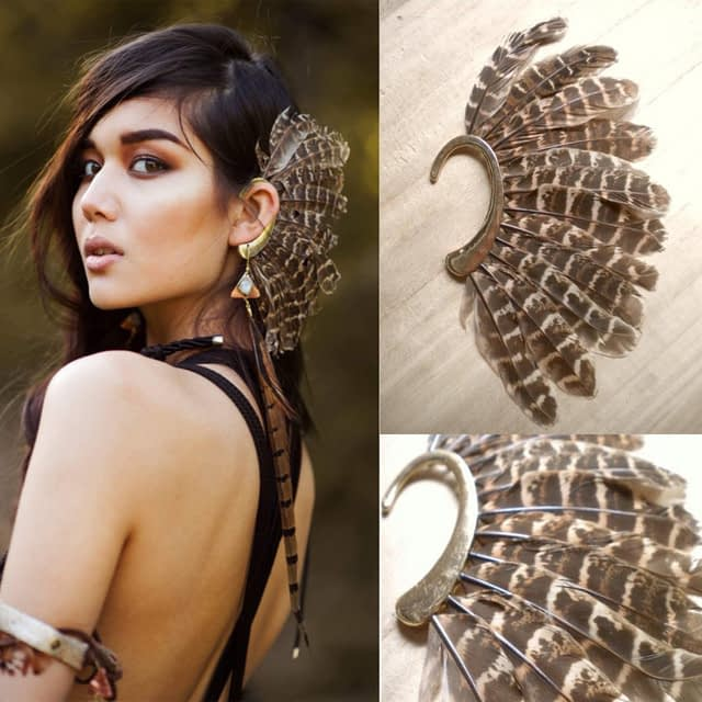 Africa-Wholesale-or-Retail-New-Unique-1Pc-Left-Unisex-Big-Feather-Ear-Cuff-Non-Piercing-Gold_0