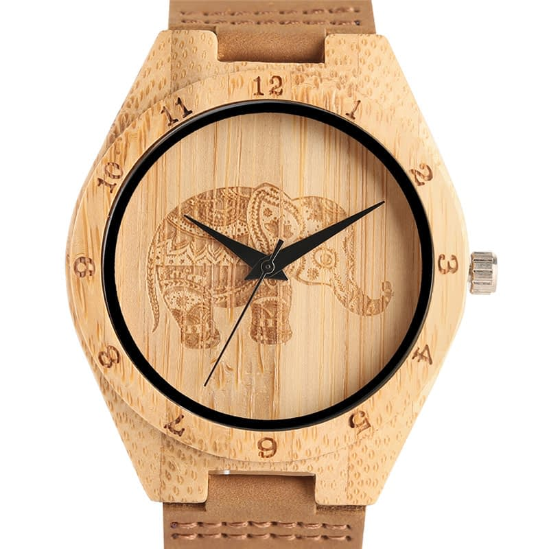 round-engraved-wooden-watch-elephant-main